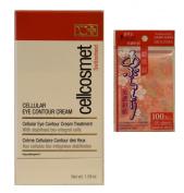 cellcosmet cellular eye contour cream 30ml with Daiso Japan oil blotting paper