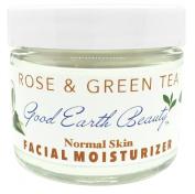 Facial Moisturiser Rose & Green Tea for Normal Skin By Good Earth Beauty