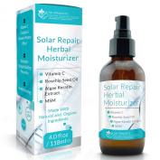 Dr. Straight's Solar Repair Herbal Moisturiser - Keratin Boosting - Stimulates Collagen Building Precursors - Vitamin C Complex Seaweed Protein Blend - Pharmacist Formulated