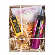 Manuka Honey Skin Care Gift Box - Includes Manuka Honey Ointment, Jojoba Daily Moisturiser, and All Natural Konjac Sponge