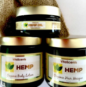 Hemp Oil Facial Serum / Hair Masque / Body Silk Combo