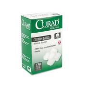 Medline CUR110163 Sterile Cotton Balls, 2.5cm , 130/Box