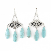 Simple Hollow Rhombus Chandelier Dangle Earrings