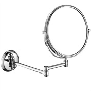 GuRun 5x Magnification Adjustable Round Mirror Wall Mount Makeup Mirrors,20cm ,Chrome Finish M1308