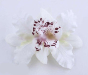 1PC Womens Wedding Bridal Orchid Flower Leopard Hair Clip Barrette Hair Dress Hot :white