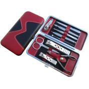 Dealglad® Stainless Steel Nail Art Care Manicure Pedicure Ear Pick Cuticle Toenail Nipper Scissors Clipper Grooming Kit Set Tool