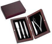 Aeropen International MS-560 5 Piece Manicure Set in Rosewood Box