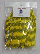 Bullseye Feathers 13cm RWSC Barred Yellow Pkg/100