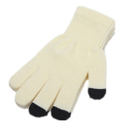 It's Ridic! Warm touchscreen / texting winter gloves - White