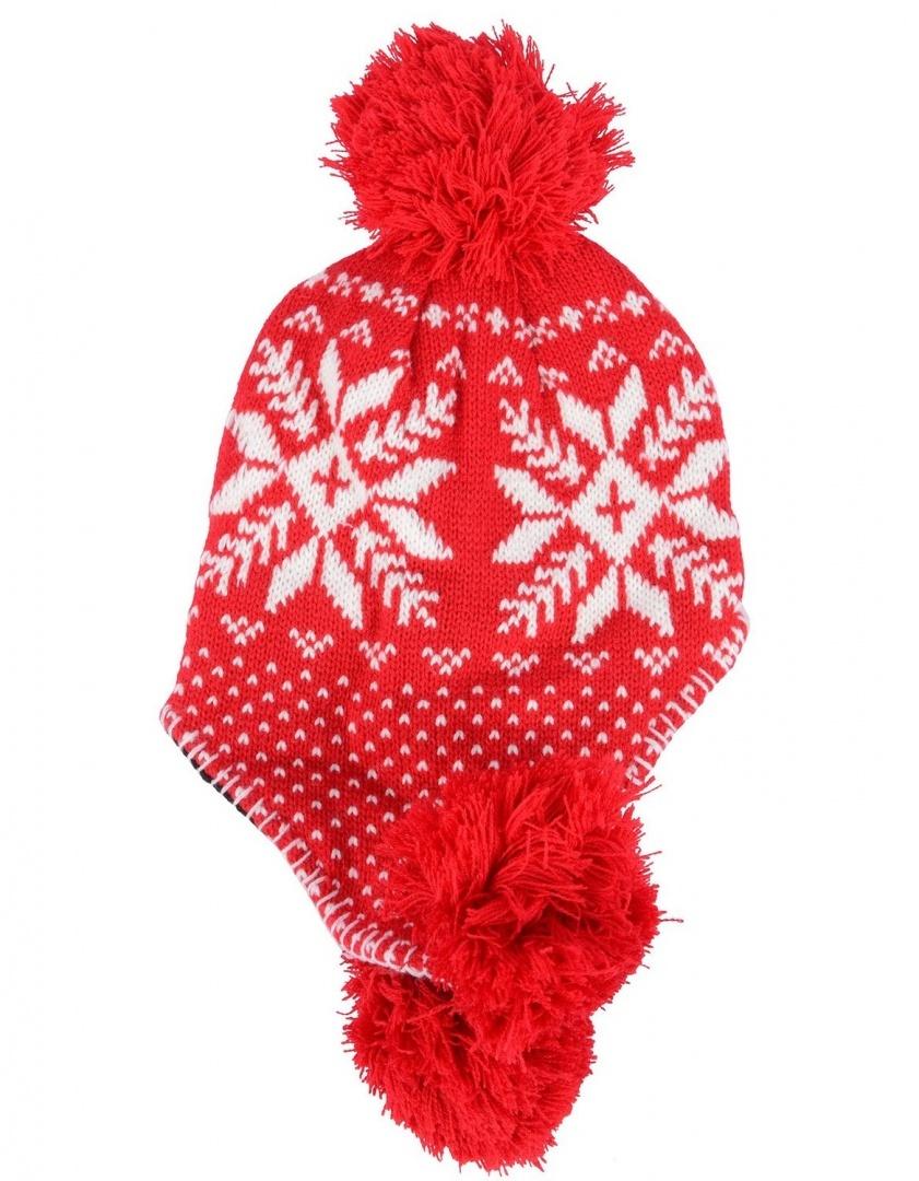 86fc655d6 Simplicity Women's Knit Winter Beanie w/ Earflap and Pom Balls