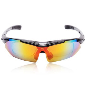 WOLFBIKE Polarised Cycling Sun Glasses Outdoor Sports Bicycle Goggles Eyewear with Exchangeable 5 Lens
