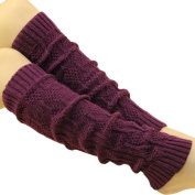 Creazy® Women's Cable Knit Leg Warmers Socks