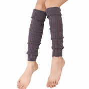 Creazy® Women Crochet Knitted Trim Boot Leg Warmer Socks