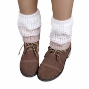 DDLBiz Women's Fashion Jacquard Knitted Boot Socks Toppers Cuffs Leg Warmer