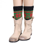 Creazy® Winter Knitted Colour Matching Christmas Snow Leg Warmers Socks Boot Cover