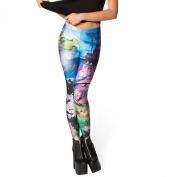 Womens Cartoon Character Printed Milk Large Hip Pants Leggings