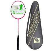 FANGCAN K15 Graphite Offensive Professional Level Badminton Racket in Pink with Cover