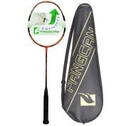 FANGCAN K15 Graphite Offensive Professional Level Badminton Racket in Orange with Cover