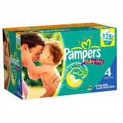 Pampers Baby Dry Size 4 Nappies Value Pack 128 Count