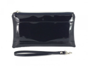Loni Womens Adorable Patent Clutch Bag Wallet Purse for Women with Detachable Wrist Strap