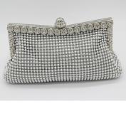 Generics Women's Aluminium Framed Clutch Bags Satin Inner Pearl Evening Bags