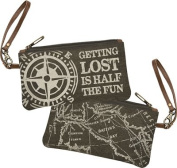 Getting Lost Canvas Wristlet
