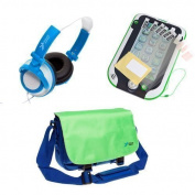 Ultimateaddons® Boys Bag Bundle for LeapFrog LeapPad Ultra / XDi / Platinum, including Bag, Headphones and Screen Protectors