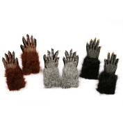werewolf gloves hands grey adult size deluxe quality