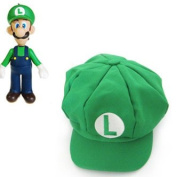 Mario Cotton Elastic RED/Green Hat Cap Cosplay Halloween Party Costume