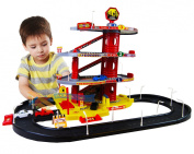 Large Deluxe Car Park Auto Parking Garage Petrol Station Kids Play Set Toy