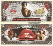 Novelty Dollar The Rocky Horror Picture Show Million Dollar Bills x 4 Frank N Furter Time Warp
