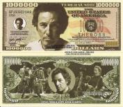 Novelty Dollar Bruce Springsteen The Boss Million Dollar Bills x 4 American Singer Songwriter