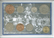 Glasgow Rangers (The Gers) Vintage Domestic Treble Winners Scottish Football League Champions FA & League Cup Victories Retro Coin Present Display Gift Set 1964