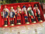 6pcs per set Unique design nutcrackers,soldiers ,wooden puppet