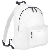 Children's Backpack by BagBase - 13 Colours to choose from - Classic Pink/ Light Grey