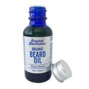 Best Beard Oil & Conditioner - Organic Jojoba & Argan with Cedar & Bergamot, Subtle Scent, Stop Itch, Eliminate Beard Dandruff, Soften Coarse Hair, Doesn't Clog Pores, Original Beardsman
