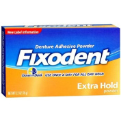 Fixodent Extra Hold, Denture Adhesive Powder--80ml