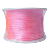 LanShi 1mm x 100 yards Rattail Satin Nylon Trim Cord Chinese Knot Roll Pink
