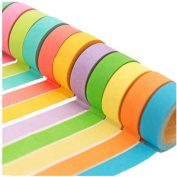 KitMax (TM) Pack of 6 Pcs Candy Colour DIY Stationery Making Sticker Washi Tapes Gift for Students Children, Colour May Vary