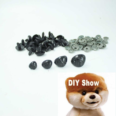 50pcs Black Plastic Noses for Teddy Bear,puppy,doll,stuffed Animal Toy (23*18mm)