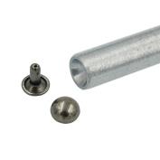 Bluemoona 100 PCS - 10MM Double Domed Cap Rivet Stud Rapid Leather Craft With tool 4 Bag clothes Bracelet