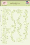 Fairytale Creations Simple Nature Stencil, 22cm L x 28cm H