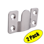 KES Stainless Steel Photo Frame Hooks for Picture Display Hanger Art Gallery Wall Mount Brushed Finish, 2 Pcs Value Pack, AH205-2-P2