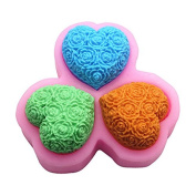 Lingmoldshop Rose Heart C374 Craft Art Silicone Soap Mould DIY Candy Mould Craft Moulds Handmade Candle Moulds