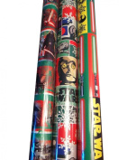Gift Wrap ~ STAR WARS ~ Wrapping Paper - 3 ROLLS(1 each) 5.6sqm
