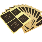 """""""Thank You"""" Kraft Paper Stickers for Gift Packaging Decoration, Pack of 40"""