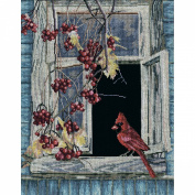 Old Window Counted Cross Stitch Kit-30cm x 45cm 14 Count