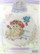 Dreamsicles 1995 Rainbow Dreams Counted Cross Stitch Embroidery Kit Cherub Angel Baby