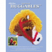 Huggables Hobby Horse Stuffed Toy Latch Hook Kit-15X11