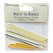 Trimcraft Back to Basics Garland Flags, True Blue